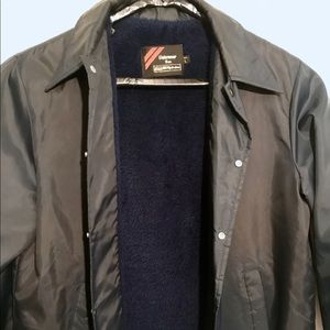 Vintage Fur Lined Snap Button Jacket From Sears